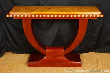 1920 Art Déco U Console Table Salle tableaux Interiors Meubles