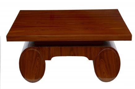 1920 Art Déco en palissandre Table basse Meubles vintage