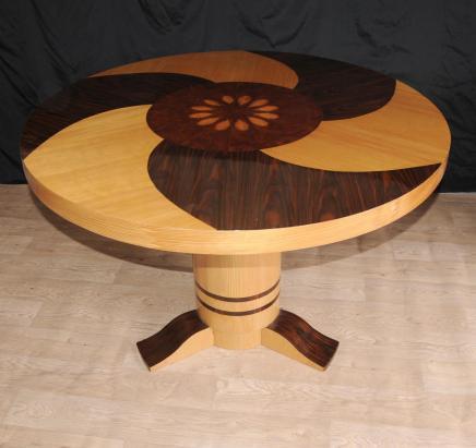 1920 art d co marqueterie centre de table manger meubles. Black Bedroom Furniture Sets. Home Design Ideas