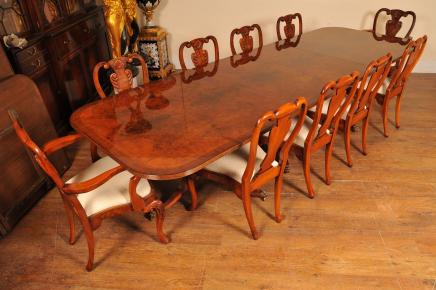 6ft Acajou Flamme Regency Dining Table ronde
