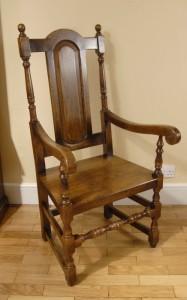 8 Anglais rustique William Mary Chaise gothique agricoles