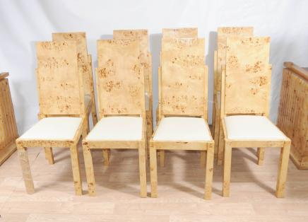8 Art déco Chaise Set chaire moderniste Meubles