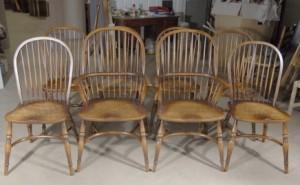 8 Ferme Anglais Windsor Chaise Chêne