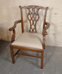 8 anglais Chippendale Chaise