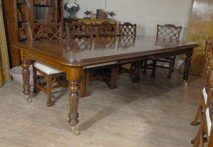 9 ft anglais victorien Acajou Table à manger