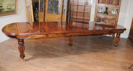 Acajou victorienne Table extensible à manger meubles anglais