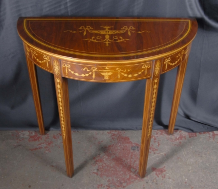 Demi table de lune archives antiquites canonbury for Table de cuisine demi lune