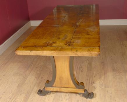 Anglais Sycamore Pays Ferme Réfectoire Dining Table