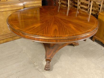 Anglais victorien 5 pieds Table ronde de salle à manger en palissandre