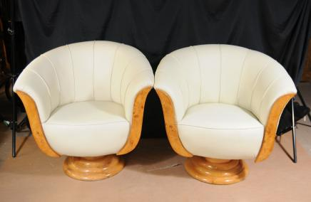 Art Déco Canapé fauteuils club Sièges Fauteuils Shell