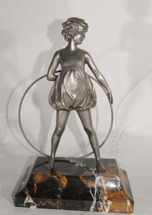 Art Déco Hoop Dancer Bronze par Preiss