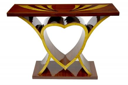Art Déco Inlay coeur Console Table Vintage Interiors Meubles