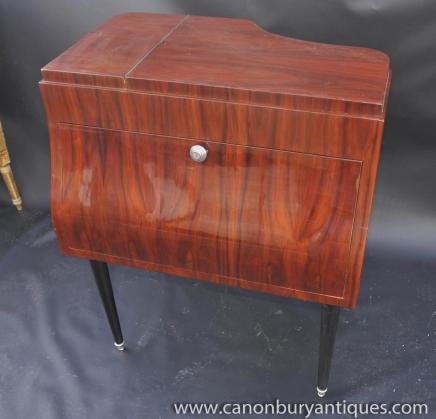 Art Déco Piano Boissons Cabinet cocktail poitrine meubles