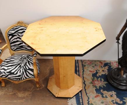 Art Déco Side table octogonale tableaux de cocktail