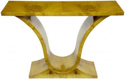 Art Déco Table console Blonde Noyer Vintage 1920 Meubles