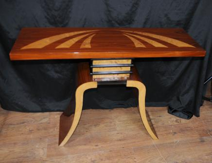 Art Déco Table console Salle tableaux de marqueterie moderniste Meubles