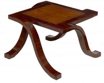 Art Déco en palissandre Table basse Tables Cocktail secondaires