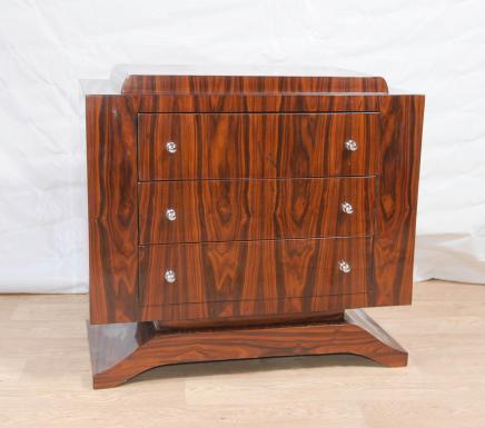 Art Déco en palissandre poitrine tiroirs Commode Meubles Cabinet