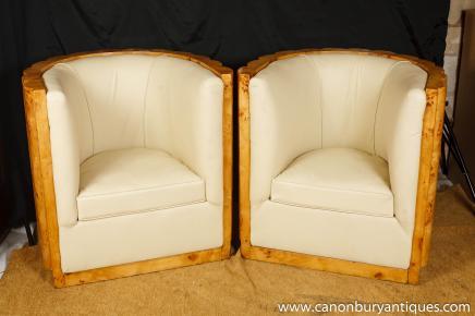 Art Déco fauteuils club remous fauteuils pli Noyer