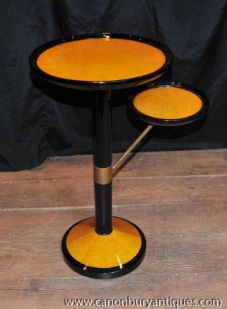 Art Déco gradins Tableau Side Tables basses Biedermeier