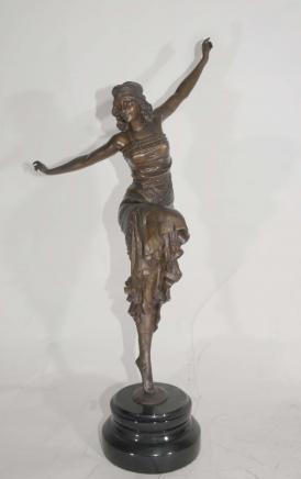 Art Déco russe Danseur bronze par Philippe
