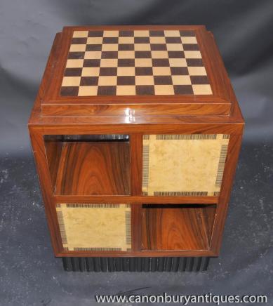 Art Déco secondaires tableau Jeux d'échecs Tables Meubles