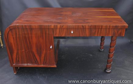 Art Déco sur pied un bureau de table 1920 Meubles de bureau