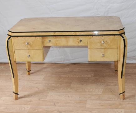 Art Deco bureau Bureau Table Blonde Noyer