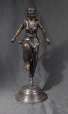 Art déco français Chiparus Graceful Dancer Figurine Egypte