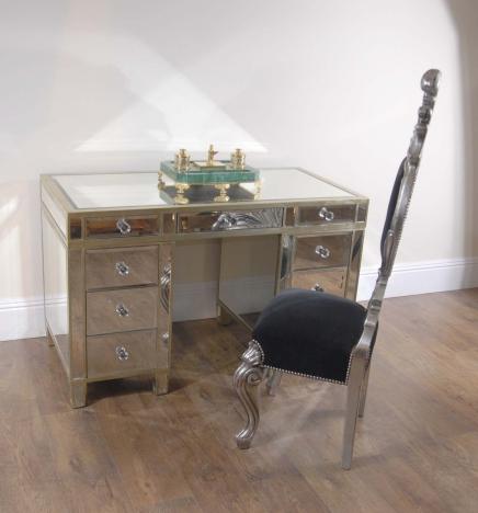 Art déco miroir Pedestal Desk Tableau d'écriture
