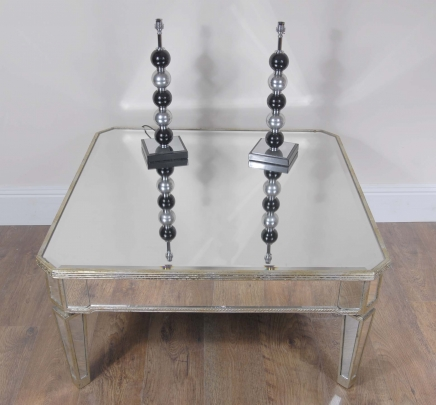 Art d co miroir table basse for Table basse miroir