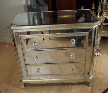Art déco miroir italien poitrine tiroirs Commode Cabinet