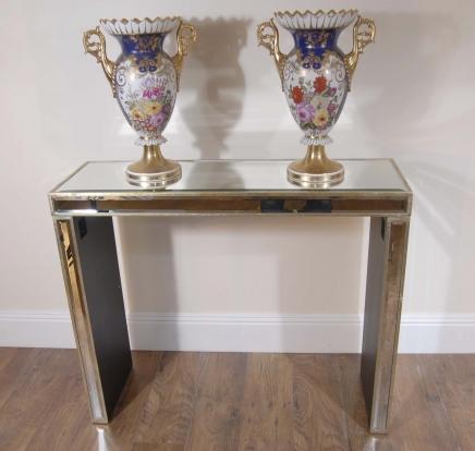 Art déco moderniste miroir Table console rétro