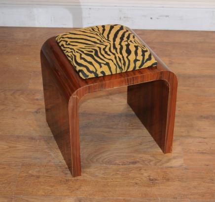 Art déco selles Rosewood Tabourets Seat