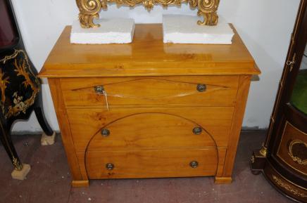Biedermeier Déco poitrine tiroirs Cabinet Blonde Noyer Meubles