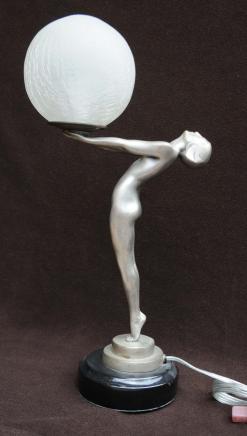 Bronze Art Déco Biba Statue Figurine