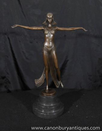 Bronze Art Déco Statue Figurine Joe Descomps 1920 français