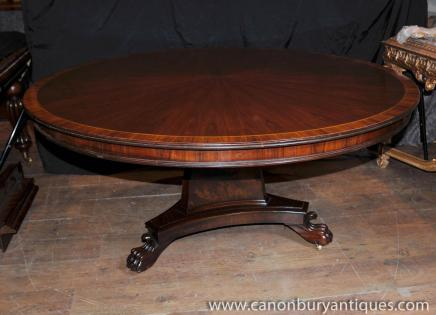 Centre Round Table Regency Tables à manger en palissandre