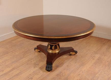 Centre ronde acajou Regency Table Tables à manger