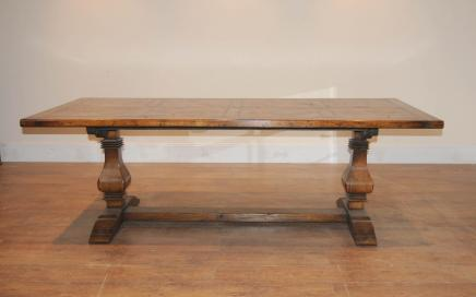 Chêne Réfectoire Ferme table à tréteaux Cuisine rustique Diner