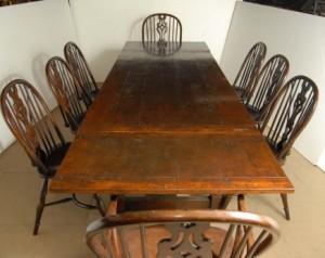 Chêne pédonculé Windsor Président et rustique Réfectoire Set de table