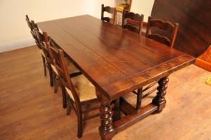 Chaises Ladderback et Réfectoire table de cuisine Set à manger