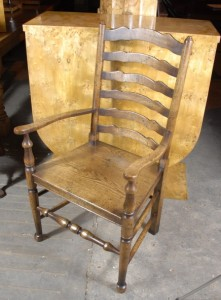 Chaises anglais Chêne Rustique Ladderback
