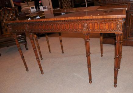 Chippendale Table console découpés par main Tableaux Mahogany Hall