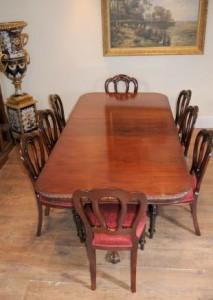 Chippendale Table & victoriennes Chaises salle à manger ensemble