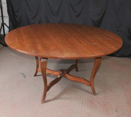 Cuisine salle manger table ronde en bois de cerisier ferme - Table de salle a manger ronde en bois ...