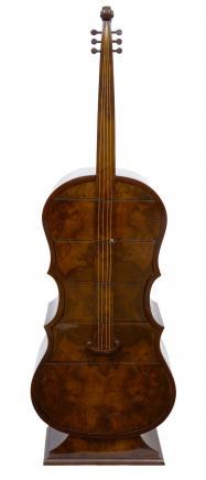 Déco Noyer Contrebasses poitrine tiroirs instruments de musique Meubles