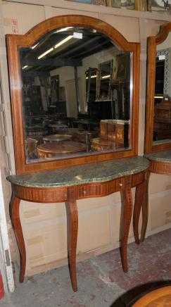 Empire français Table console Mirror Set