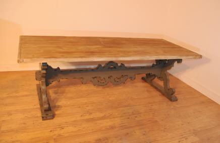 espagnol ferme chevalet r fectoire table de cuisine. Black Bedroom Furniture Sets. Home Design Ideas