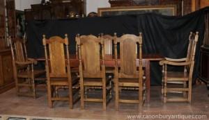 Ferme Dining Set Chêne Réfectoire Tableau Willam et Mary présidents